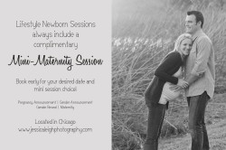 Complimentary Mini Maternity Session with every Lifestyle Newborn Session | Chicago & Suburbs | www.jessicaleighphotography.com